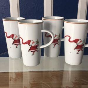 Santa Coffee hot chocolate drink cup mug glass
